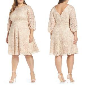 NEW ELIZA J Boatneck Lace Fit & Flare Dress 18W